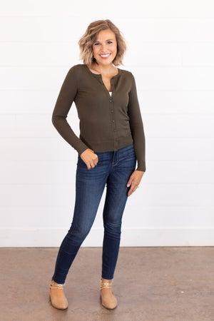 sku16177 | **Daily Deal** Button Up Sweater Cardigan