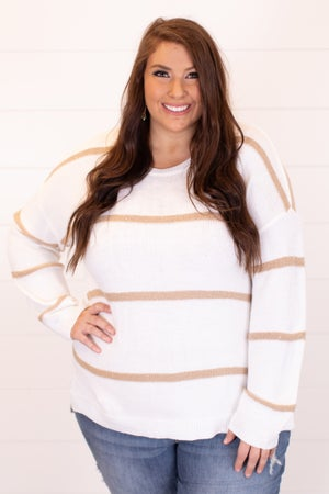 sku16773 | Sequined Striped Sweater