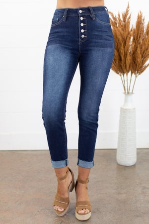 sku15251 | Dream Button Fly High Rise Skinny Jean