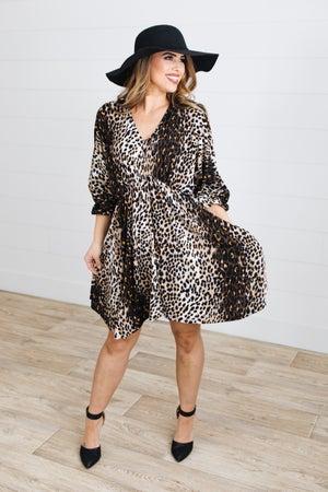 sku17659 | Animal Print Knit Dress