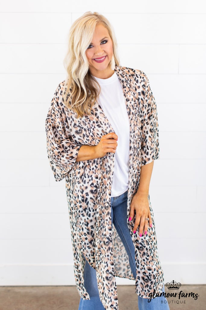 sku15168 | **Daily Deal** Animal Print Kimono