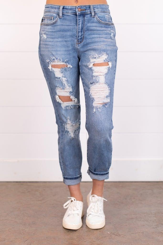 sku18080 | Destroyed Boyfriend Jeans