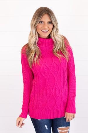 sku15993 | Cable Knit Turtleneck Sweater