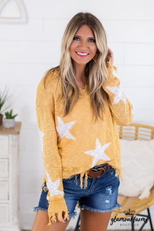 sku14475 | Distressed Star Sweater