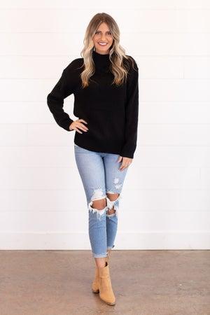 sku16652 | Fold Over Collar Sweater
