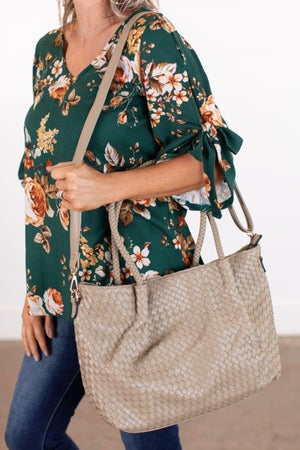 sku15841   Woven Tote Handbag