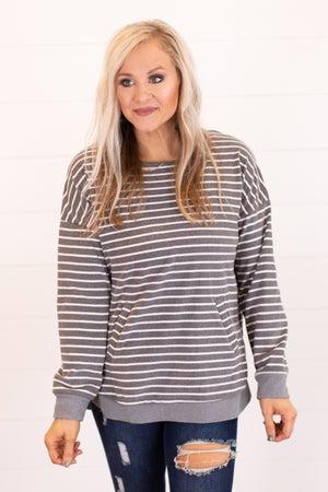 sku15962 | Striped Kangaroo Pocket Tunic