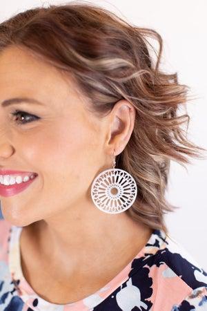 sku16813 | Round Acrylic Filigree Earrings