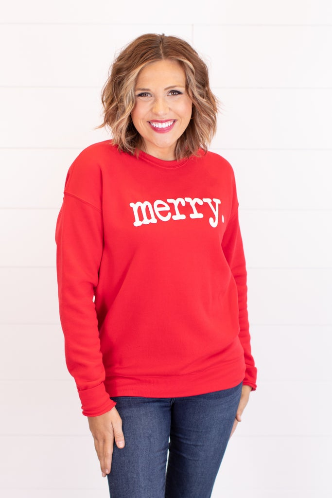 sku17617 | Merry Graphic Sweatshirt