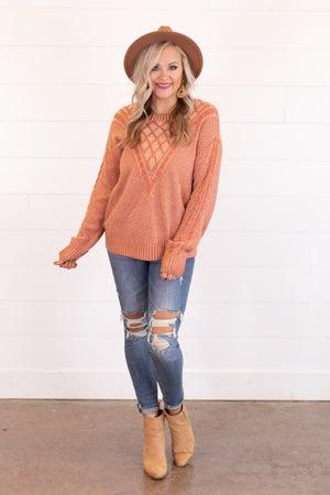 sku16531   Crosshatch Knit Sweater