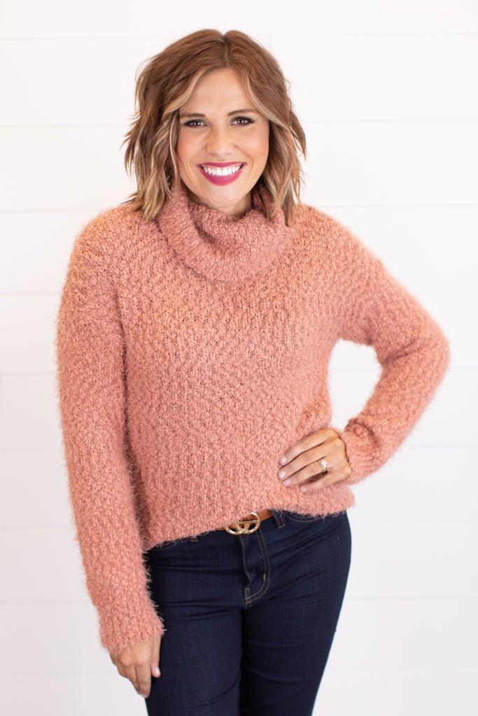 sku17378 | Fuzzy Turtleneck Sweater