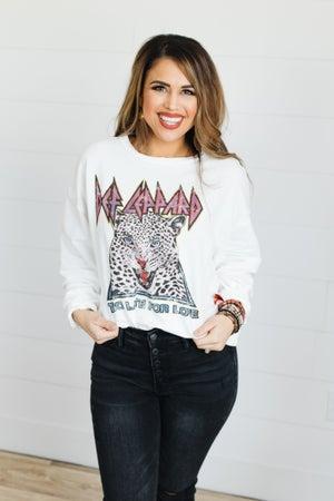 sku21075 | Def Leppard Graphic Sweatshirts