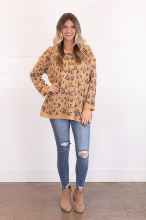 sku17540 | Animal Print Tunic Sweater