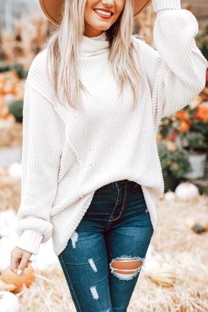 sku16030   Oversized Turtleneck Sweater