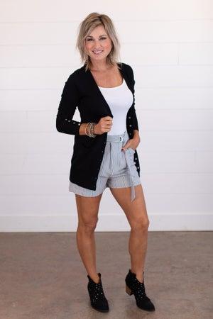 sku15400   Striped High Waist Shorts