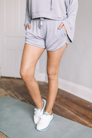 sku20209 | Mineral Washed Drawstring Shorts