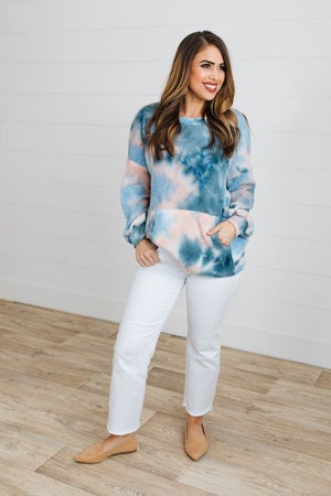 sku17657 | Tie Dyed Front Pocket Top