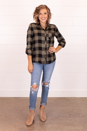 sku16262 | Plaid Button Up Shirt