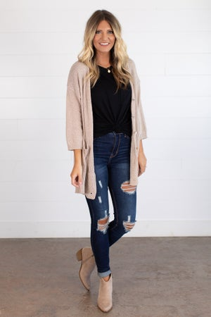 sku14853 | Textured Knit Cardigan