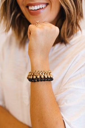 sku19869   Chain And Beaded Bracelet Set