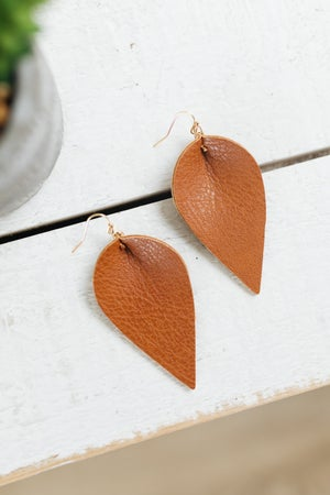 sku20419   Leatherette Dangle Earrings