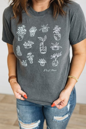sku19553 | Mineral Washed Plant Mama Graphic Tee