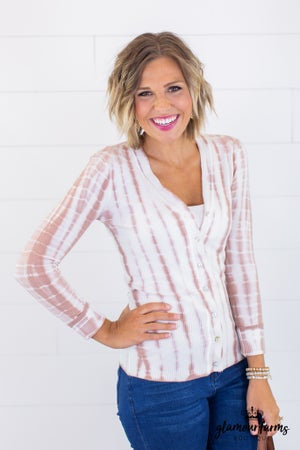 sku15112 | **Daily Deal** Tie Dyed Button Up Cardigan