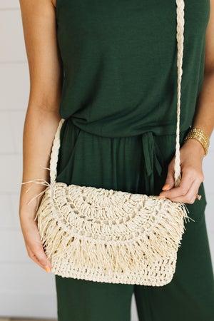 sku19817 | Raffia Envelope Handbag