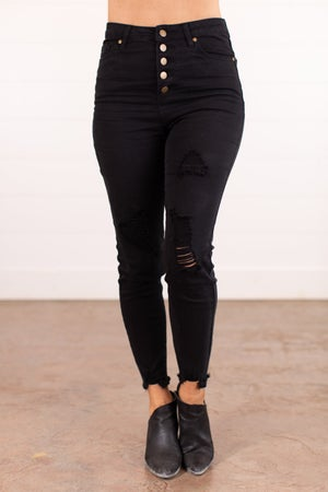 sku16188 | Distressed Button Fly Twill Pants