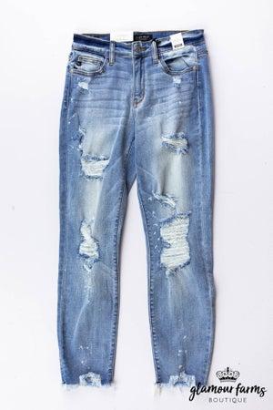 sku13522 | Bleached Destroyed Boyfriend Jeans