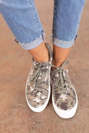 sku16430 | Royal Camo Platform Sneakers