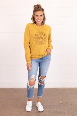 sku16558 | GF Logo Fall Florals Sweatshirt