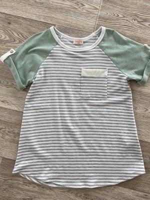 sku21452   Striped Tab Sleeve Raglan Top