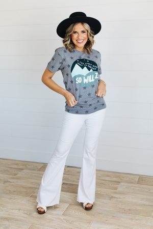 sku20188 | So Will I Star Print Graphic Tee