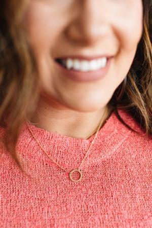 sku17252 | Circle Pendant Necklace