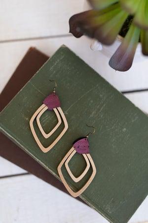 sku18163 | Geometric Wooden Earrings