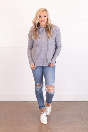 sku17513 | Drawstring Hooded Sweater