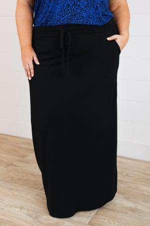 sku19507 | **Daily Deal** Drawstring Maxi Skirt
