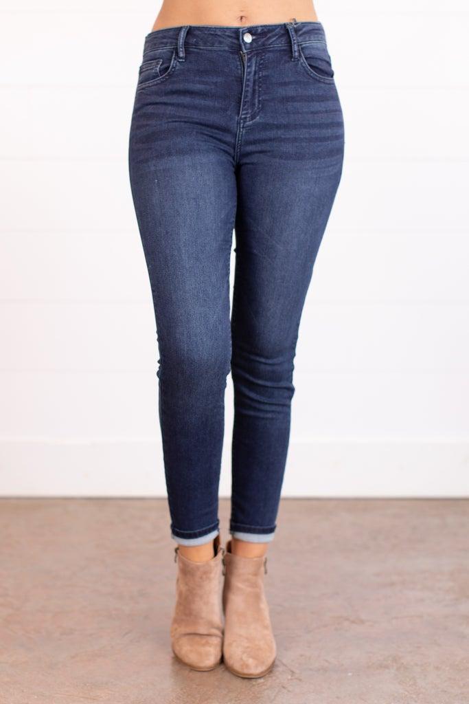 sku17678   Mid Rise Classic Skinny Jean