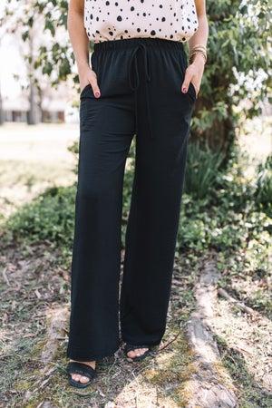 sku20131 | Crepe Knit Wide Leg Pants