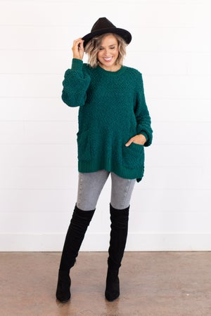 sku16303   Popcorn Tunic Sweater