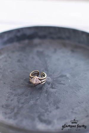 sku13872   Adjustable Pave Ring