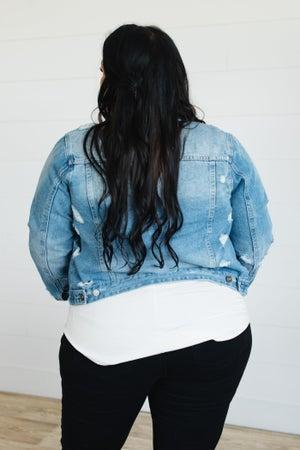 sku20396 | KanCan Distressed Denim Jacket