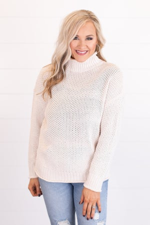 sku17487 | **DOORBUSTERS** Mock Neck Knit Sweater