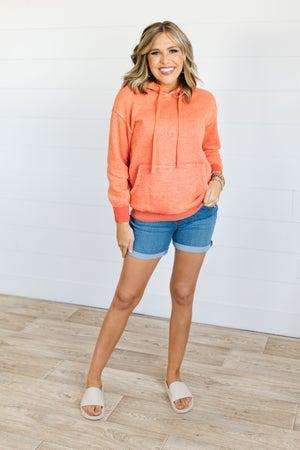 sku21030 | Pull-On Rolled Cuff Denim Shorts