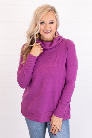 sku17942 | Cowl Neck Mixed Knit Tunic