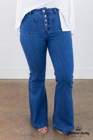 sku15039 | High Rise Super Flare Jean