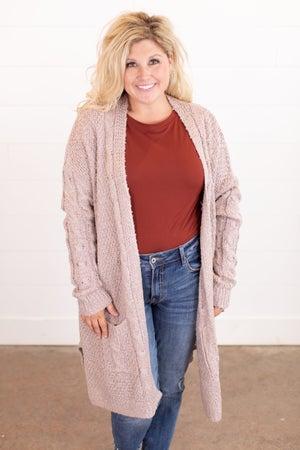 sku14389   Textured Knit Sweater Cardigan