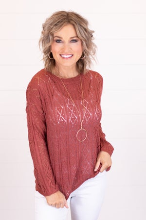 sku18123 | Eyelet Knit Sweater