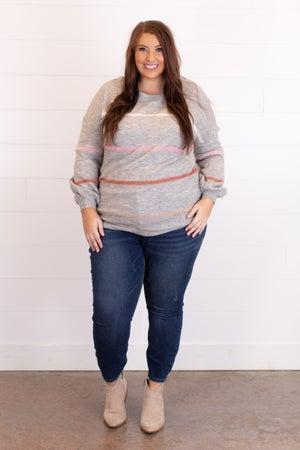 sku15480   Lurex Striped Sweater